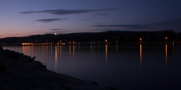 Ybbs; Donaulände; Abend; Sonnenuntergang; Donau